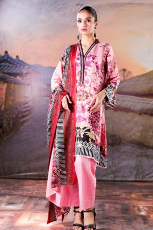 Sahil Printed Cotton Collection 2019 With Printed Lawn Dupatta and Dyed Trouser Original Pakistani Suits 07