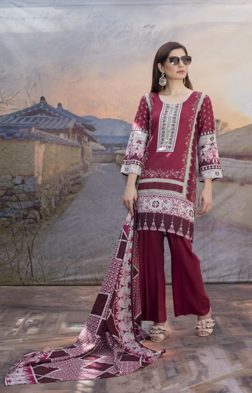 Sahil Printed Cotton Collection 2019 With Printed Lawn Dupatta and Dyed Trouser Original Pakistani Suits 13