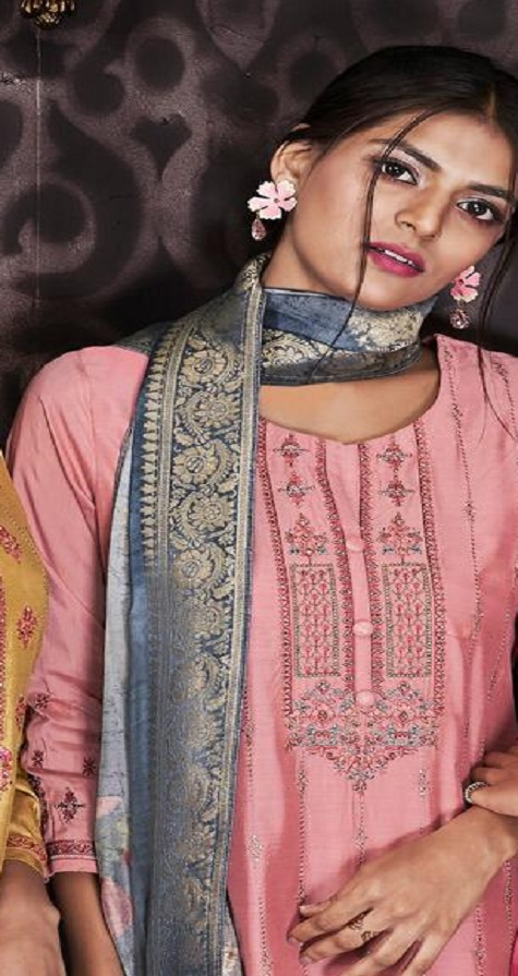 Sajjan Relssa Fabrics Presents Kajal Muslin Cotton With Embroidery Salwar Suit 15006