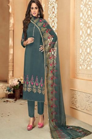 Shree Fabs Gujarish Vol 5 Pure Viscose Upada With Embroidery Salwar Suit 1028