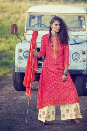 Varsha Fashions Presents A Special Art Pure Russian Silk Weaving With Bandhani Print and Embroidery Suit AS-36