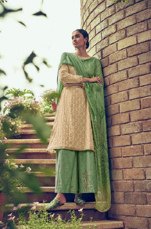 Varsha Fashions Presents Nividha Banarsi Weave Self Fabric With Lining and Embroidery Salwar Suit ND-26
