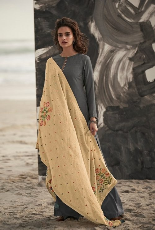 Varsha Fashions Presents Ora Munga Silk With Embroidery Salwar Suit O-14