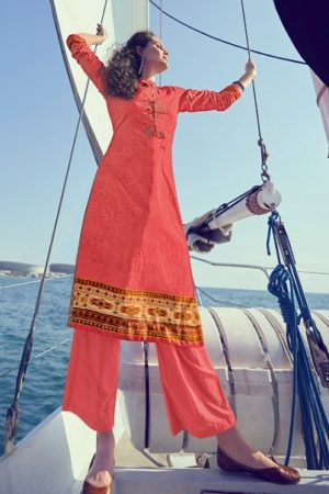 Varsha Presents Elahi Superior Cotton Printed With Embroidery Salwar Suit E-14