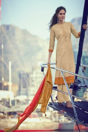 Varsha Presents Elahi Superior Cotton Printed With Embroidery Salwar Suit E-18