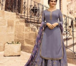 Vinay Fashion Kaseesh Lifestyle 2 Muslin Satin With Work Sharara Suit 10865