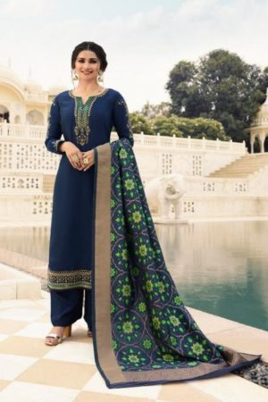 Vinay Fashion Presents Kaseesh Banaras 4 Satin With Embroidery and Work Designer Suit 11131