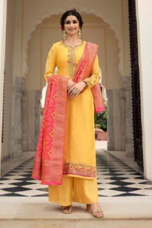 Vinay Fashion Presents Kaseesh Banaras 4 Satin With Embroidery and Work Designer Suit 11134