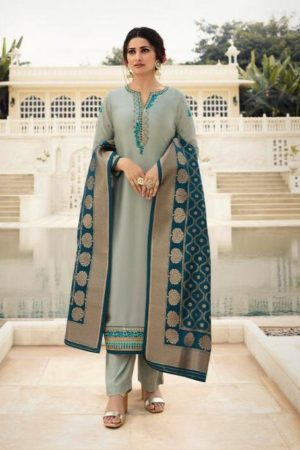Vinay Fashion Presents Kaseesh Banaras 4 Satin With Embroidery and Work Designer Suit 11135