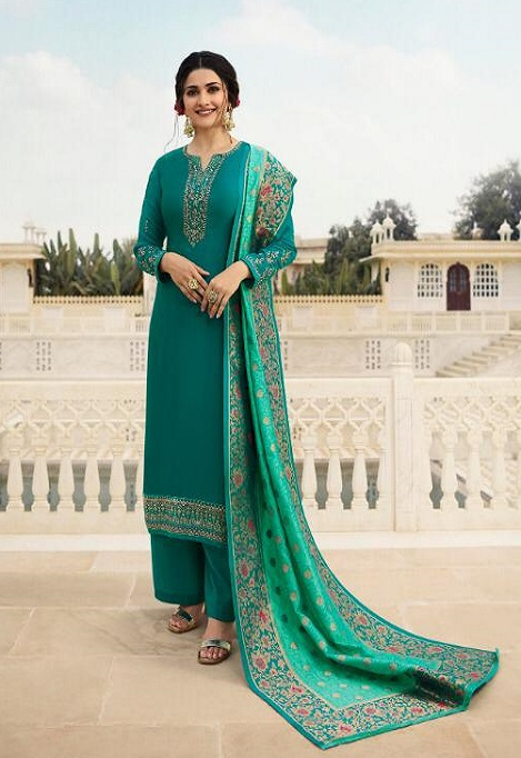 Vinay Fashion Presents Kaseesh Banaras 4 Satin With Embroidery and Work Designer Suit 11136
