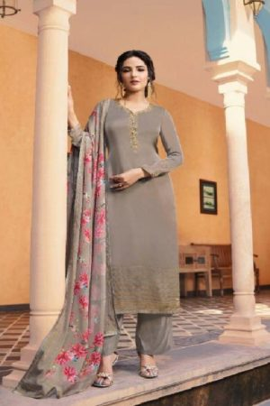 Vinay Fashion Presents Kaseesh Sunshine Satin Georgette With Siroski Work Suit 11044