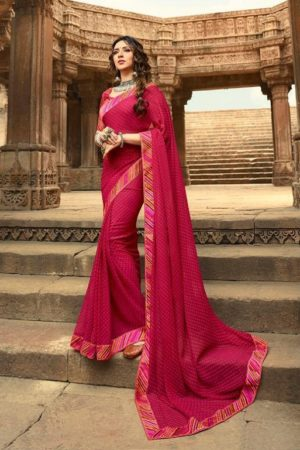 Vinay Fashion Presents Sheesha Starwalk 48 Gerogette Designer Saree 21662