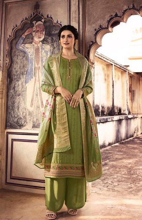 Vinay Fashion Presents Tradition Tusser Silk With Work Partywear Suit 10953