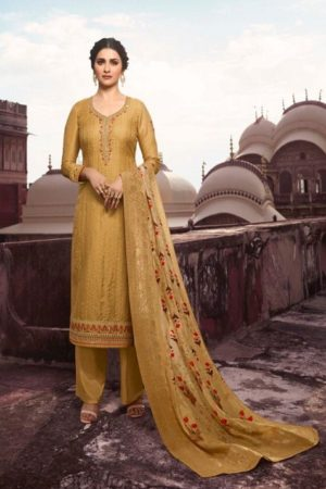 Vinay Fashion Presents Tradition Tusser Silk With Work Partywear Suit 10956