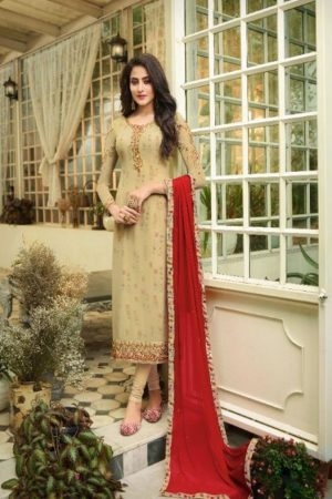 Zisa Vol 61 Georgette With Embroidery Partywear Churidar Suit 11092