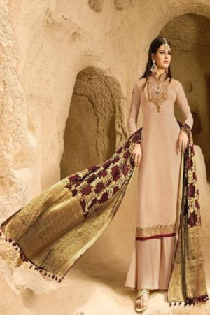 Zubeda Saira Satin Georgette With Embroidery Work Designer Suits 17102