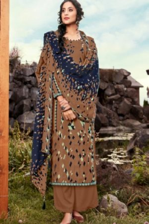 Ankit Textile Presents Raima Pure Pashmina Printed Winter Unstitched Salwar Suit 4307