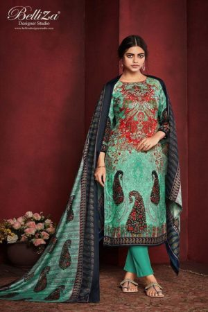 Belliza Designer Studio Presents Al'Marina Pure Pashmina Printed Winter Collection Salwar Suit 341-006