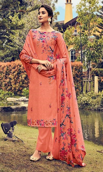 Belliza Designer Studio Presents Ruhani 2 Pure Pashmina Digital Printed Salwar Suit 326-004