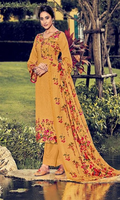 Belliza Designer Studio Presents Ruhani 2 Pure Pashmina Digital Printed Salwar Suit 326-008
