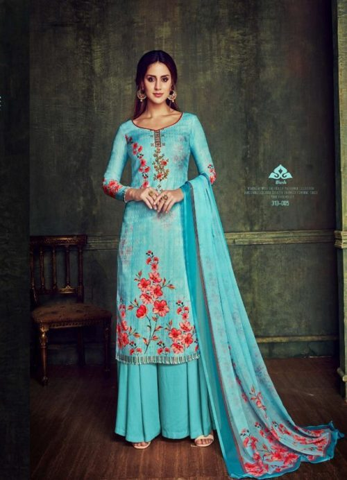 Belliza Designer Studio presents pure Dupatta Collection 100% pure Pashmina Digital Print With Fancy Embroidery Work Suits 313-005