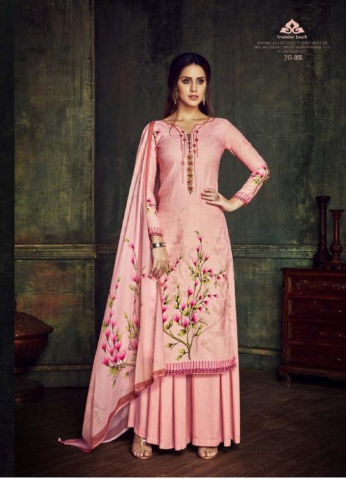 Belliza Designer Studio presents pure Dupatta Collection 100% pure Pashmina Digital Print With Fancy Embroidery Work Suits 313-006