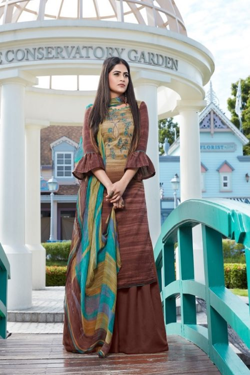 Bipson Presents Simron Winter Collection Woolen Pashmina Print With Embroidery Work Salwar Suit 899
