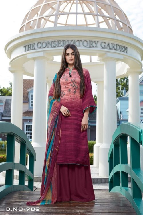 Bipson Presents Simron Winter Collection Woolen Pashmina Print With Embroidery Work Salwar Suit 902