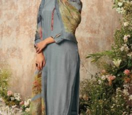 Buy Sava Aadhira Dyed Raw Silk With Bottom and Dupatta Unstitched Designer Ladies Suits 1199
