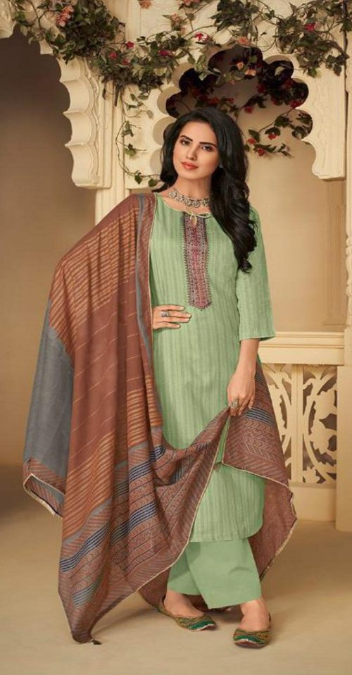 Deepsy Presents Panghat 4 Winter Collection Pure Pashmina With Heavy Self Embroidery Suit 45003