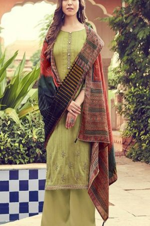 Deepsy Suits Presents Panghat 6 Pure Jam Silk Cotton Print With Heavy Self Embroidery Salwar Suit 51006
