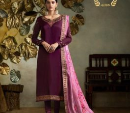 Buy Fiona Presents Kavya Digital Dupatta Satin Georgette With Embroidery Salwar Suits 22564