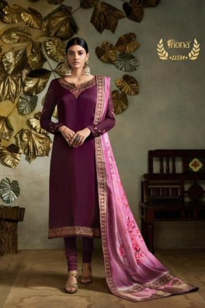 Fiona Presents Kavya Digital Dupatta Satin Georgette With Embroidery Salwar Suits 22564