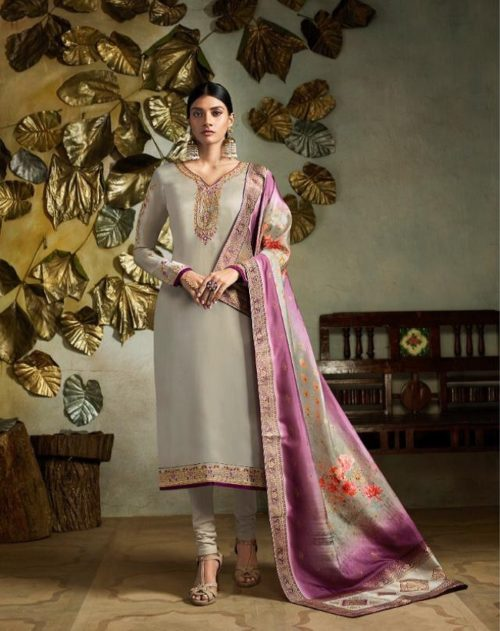 Fiona Presents Kavya Digital Dupatta Satin Georgette With Embroidery Salwar suit 22561