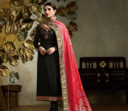 Buy Fiona Presents Kavya Digital Dupatta Satin Georgette With Embroidery Salwar Suits 22562
