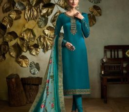 Buy Fiona Presents Kavya Digital Dupatta Satin Georgette With Embroidery Salwar Suits 22563