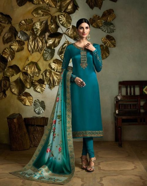 Fiona Presents Kavya Digital Dupatta Satin Georgette With Embroidery Salwar suit 22563