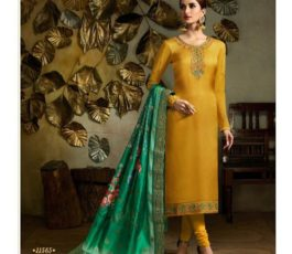 Buy Fiona Presents Kavya Digital Dupatta Satin Georgette With Embroidery Salwar Suits 22565