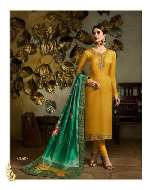 Fiona Presents Kavya Digital Dupatta Satin Georgette With Embroidery Salwar suit 22565