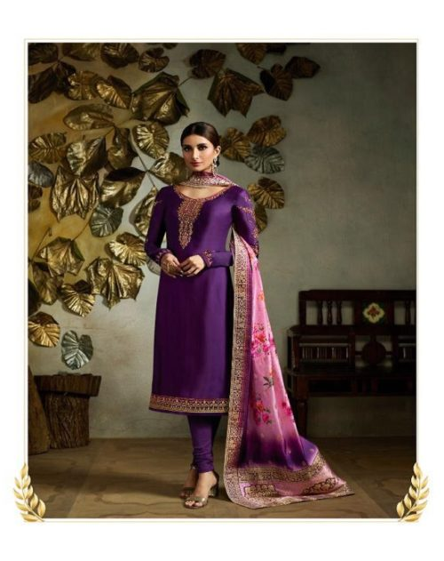 Fiona Presents Kavya Digital Dupatta Satin Georgette With Embroidery Salwar suit 22566