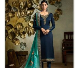 Buy Fiona Presents Kavya Digital Dupatta Satin Georgette With Embroidery Salwar Suits 22567
