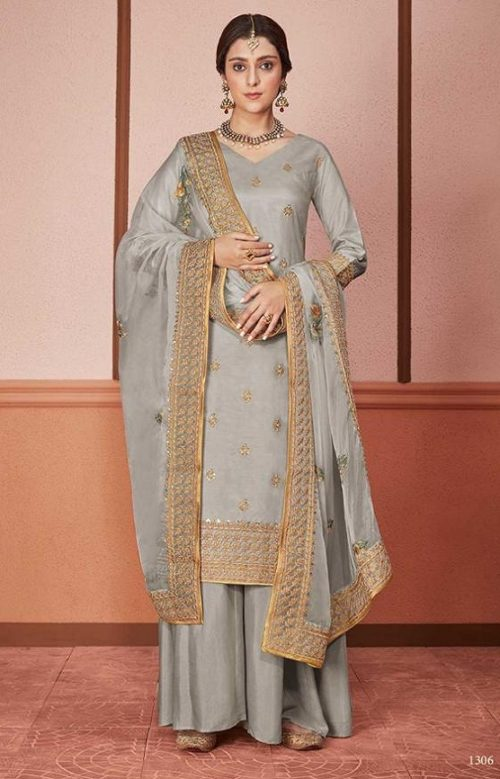 Kimora Presents Amber Dola Silk With Embroidery Designer Party Wear Suits 1306