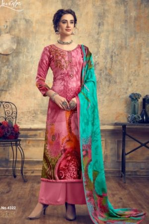 Levisha Presents Zariya Pure Pashmina Print With Fancy Self Embroidery Salwar Suit 4322