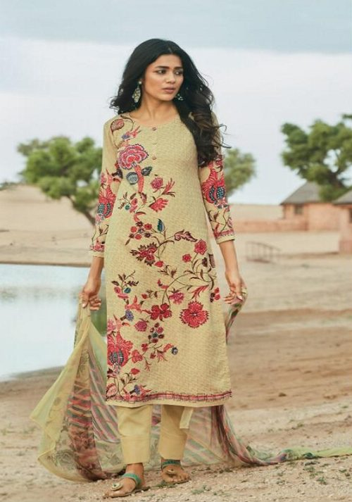 PRM Trendz Presents Avni Pure Pashmina Digital Printed With Work Salwar Suits 3143