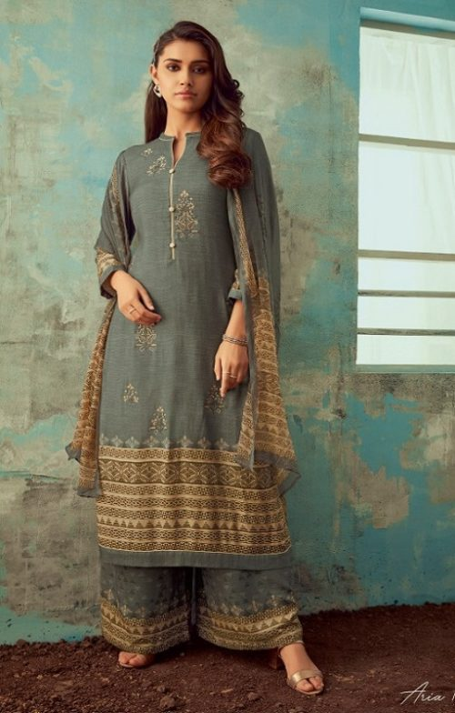Sahiba Esta Designs Aria Pashmina Dobby Digital Printed Embroidered Winter Collection Suit 1008