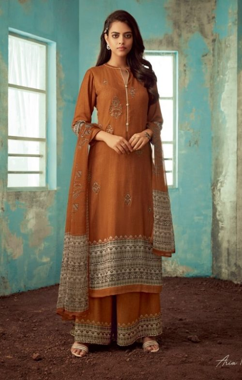 Sahiba Esta Designs Aria Pashmina Dobby Digital Printed Embroidered Winter Collection Suit 1012