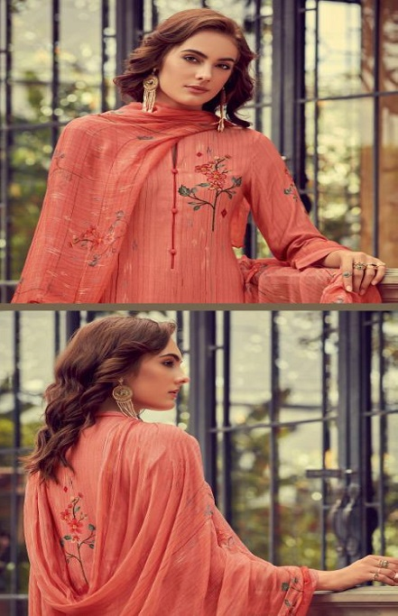 Sahiba Esta Designs Presents Shore Pashmina Dobby Printed With Handwork Salwar Suits 1007