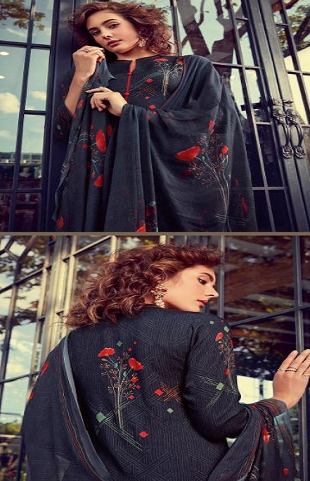 Sahiba Esta Designs Presents Shore Pashmina Dobby Printed With Handwork Salwar Suits 1009