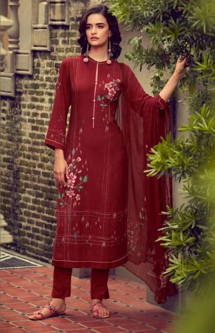 Sahiba Esta Designs Presents Shore Pashmina Dobby Printed With Handwork Suits 1001