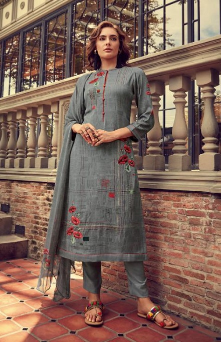 Sahiba Esta Designs Presents Shore Pashmina Dobby Printed With Handwork Suits 1006